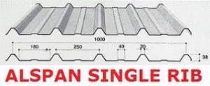 Atap Alspan Single Rib
